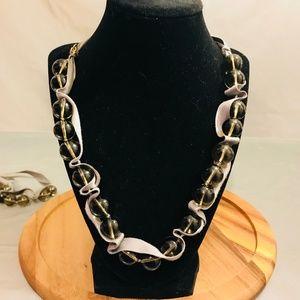 J Crew Ribbon Tie Necklaces Set of (2) #22
